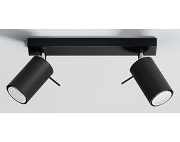 Ring lampa sufitowa (spot) 2-punktowa czarna SL.0092