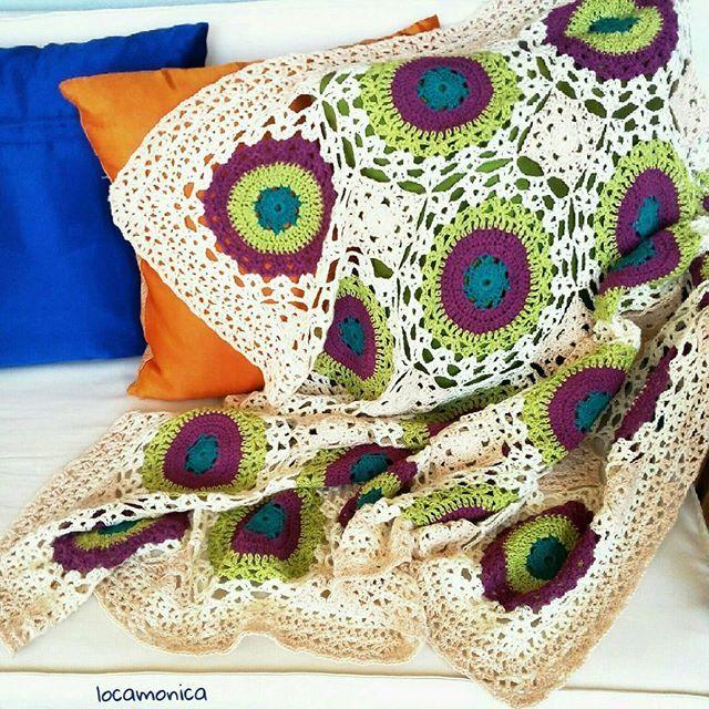 Manta Granny Chic... Feliz día con alegría y olé el mágico crochet! Granny Chic Blanket.... Happy day with Joy and olé the magic crochet!