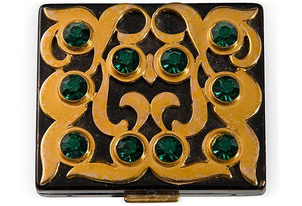 Original Paul Flato Rhinestone Compact on OneKingsLane.comDivination Desinger, Art Nouveau, Dollar Accessories, Cigarettes Cases, Vintage, Flato, Powder, Compacts Makeup 9, Art Deco