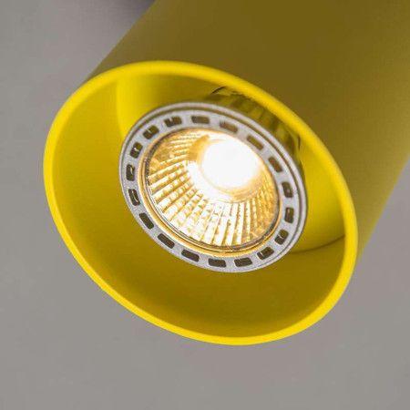 Spot Tubo 1 geel - Super strakke design spot volledig gemaakt van aluminium in een fraaie structuur lak afgewerkt. Ook de binnenkant waar de lamp in zit is op kleur gebracht. Erg leuk met meerdere bij elkaar ook in verschillende kleuren.