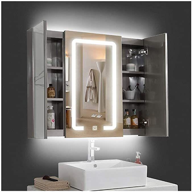 20 Mirrored Bathroom Wall Cabinets, Light Up Bathroom Mirror Cupboard