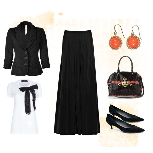 Maxi Skirt @ Work, created by andsheran on Polyvore