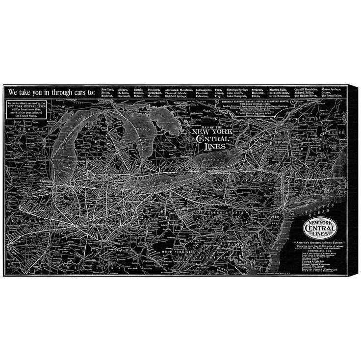 Hatcher and Ethan 'New York Central Lines Map 1918' Canvas Art