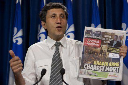 Khadir envisage de poursuivre le Journal de Montréal