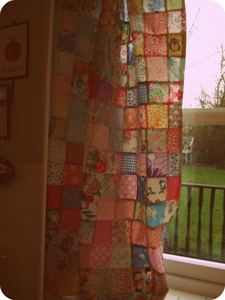 Patchwork Kitchen Curtains | The Blueberry Patch