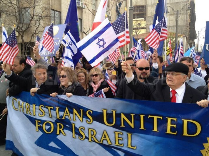 Christians Standing with Israel   Christians march in Jerusalem showing their support to Israel ...