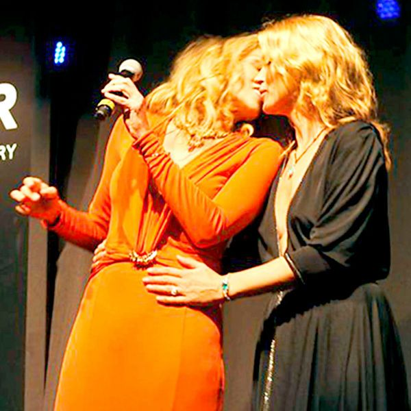 Kate Moss and Sharon Stone shares lesbian kiss in charity function