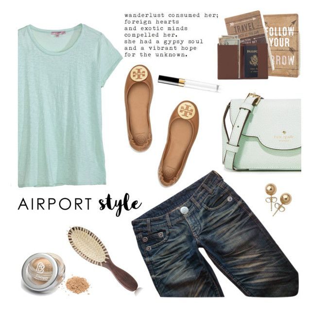 """Airport Style"" by colierollers ❤ liked on Polyvore featuring Kate Spade, Tory Burch, Thomas Wylde, Calypso St. Barth, Primitives By Kathy, Royce Leather, Christophe Robin, Bling Jewelry, Chanel and airportstyle"