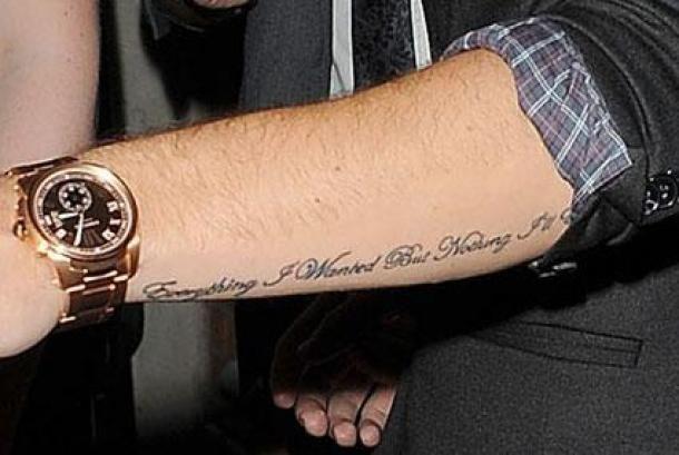 J'adore l'emplacement et la taille tu tatoo