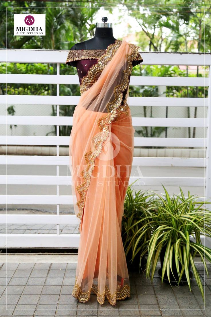 Fabulous Net saree for your special Occasion with amazing scallop design with raw silk off shoulder blouse adding glamour to complete the look of the outfit.Product code - SC 256To Order : whatsapp +91 8142029190/ 9010906544 For Call: 8899840840 (IVR). 28 July 2017