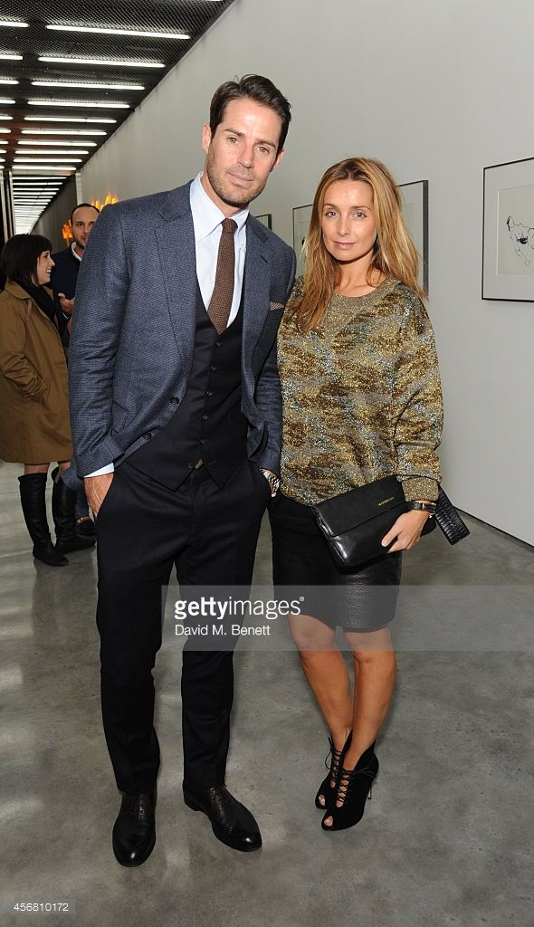 Jamie Redknapp and Louise Redknapp attend a private view of 'Tracey Emin: The Last Great Adventure Is You' at White Cube Bermondsey on October 7, 2014 in London, England.