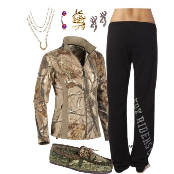 """Outfit of the Day: Fox sweatpants and Realtree jacket!"" by backwoods-princess on Polyvore"