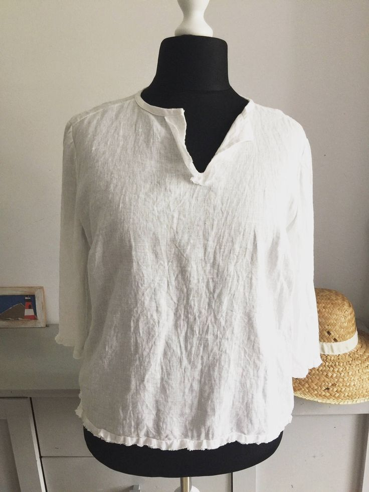 A personal favorite from my Etsy shop https://www.etsy.com/listing/544574123/white-linen-shirt-women-linen-clothing