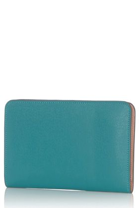 Turquoise blue contrast wallet / Warehouse
