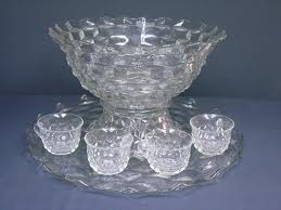 fostoria punch bowl - mom had a collection of fostoria glassware. i have this lovely punch bowl.