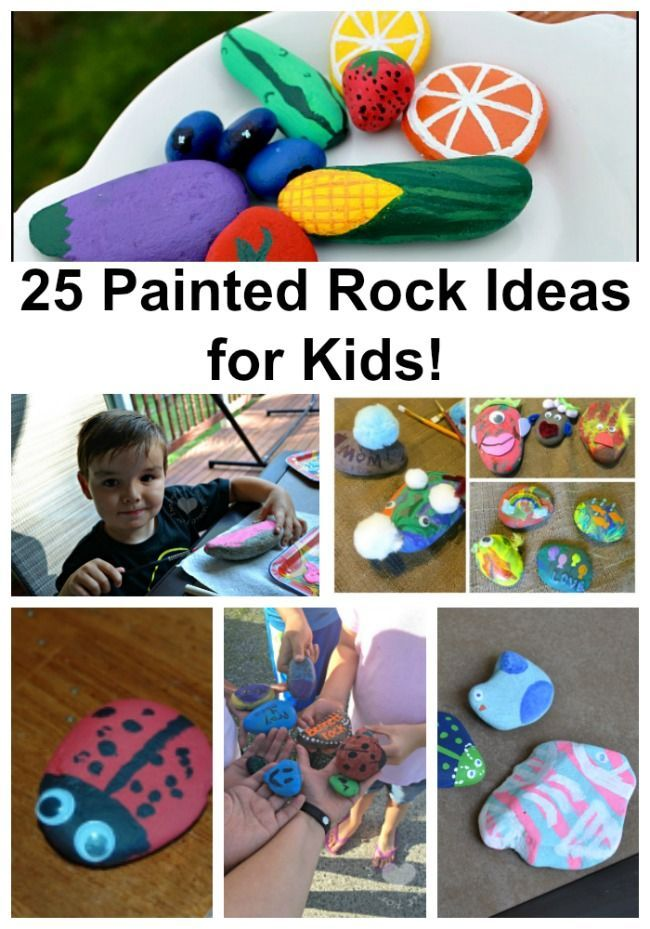 Ideas For Kids Bedroom: 25 Painted Rock Ideas For Kids!