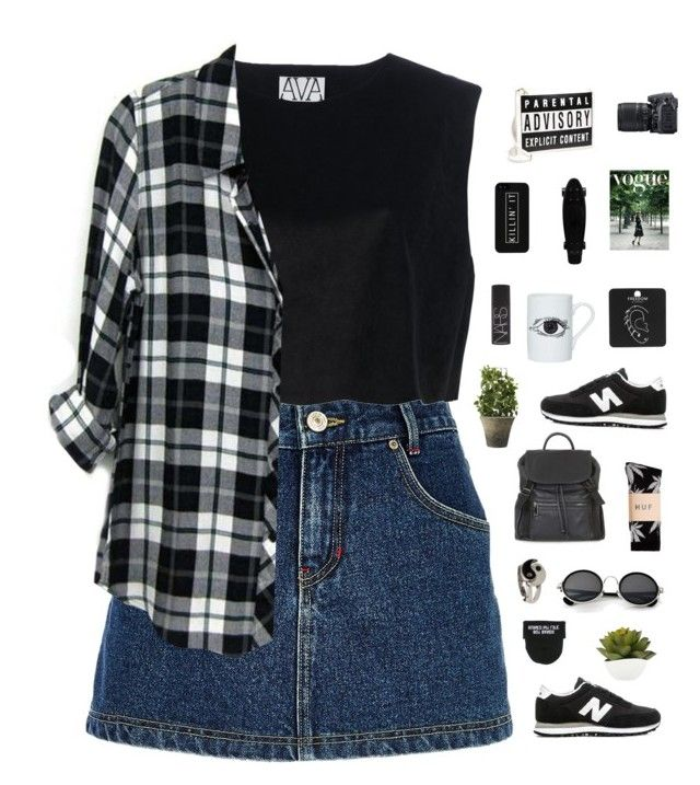 """Untitled #480"" by amy-lopezx ❤ liked on Polyvore featuring River Island, New Balance, Ava Catherside, Street Level, Nikon, HUF, Topshop, LG, Retrò and DOMESTIC"