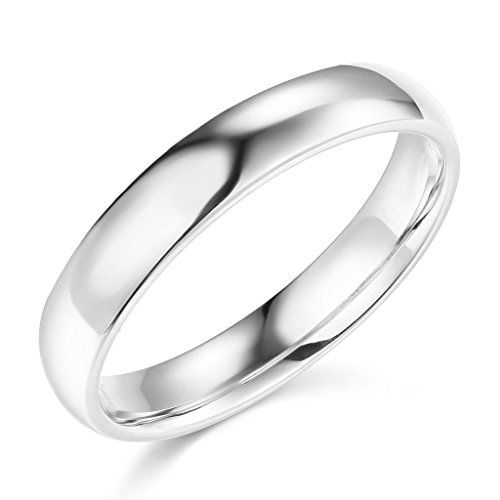 LASER ENGRAVING SERVICE 14k Yellow OR White Gold 4mm SOLID Plain Wedding Band