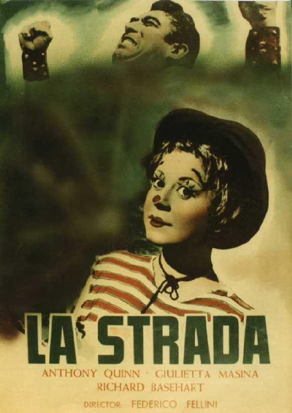 Federico Fellini had been making films for a few years but with the 1954 release of La strada the Italian director set himself on his way to becoming one of