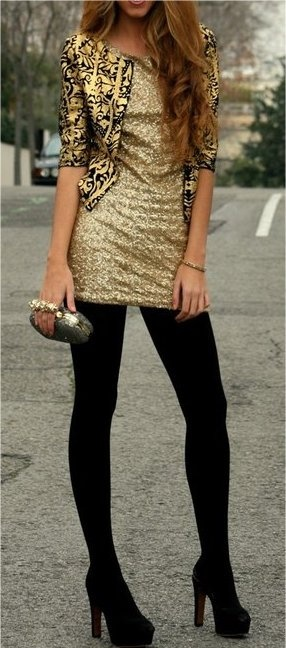 gold and sequins