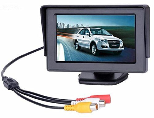 From 9.96 Bw 4.3 Inch Tft Lcd Car Monitor Car Reverse Parking Monitor With Led Backlight Display For Rear View Camera Dvd