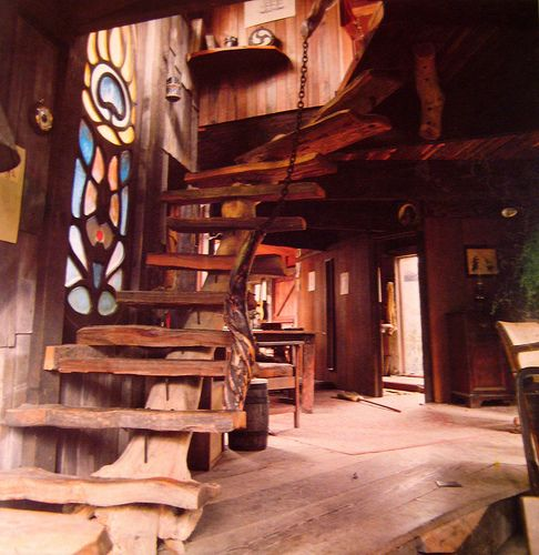 rustic stairs: Ideas, Interior, Stairs, Dream House, Staircase, Place, Design, Stained Glass