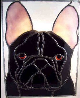 French Bulldog Suncatcher Animals Dogs Stained Glass