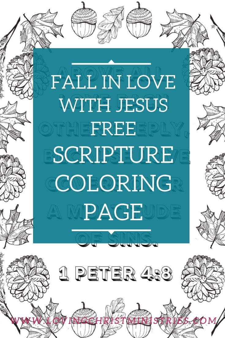 Free Fall in Love with Jesus Scripture Coloring Page ...