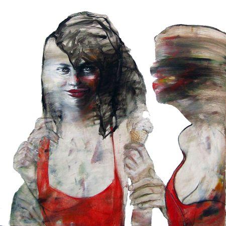 Esther Erlich  Melting - 2013  Acrylic on canvas  92 x 92 cm