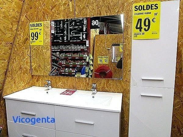 Agreable 10 Luxueuse Meuble Salle De Bain Double Vasque Brico Depot Des Photos