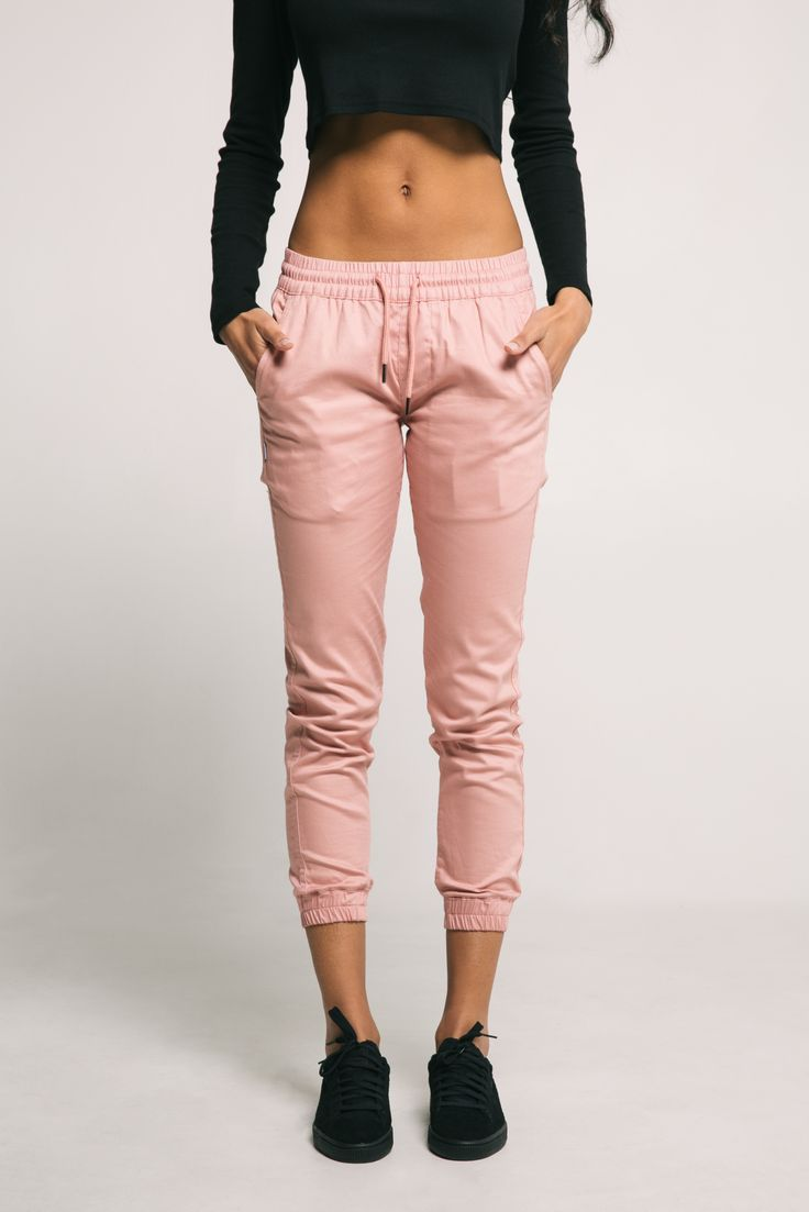 Made with a touch of spandex the Fairplay Pink Runner Joggers have stretch and flexibility to match their solid style.