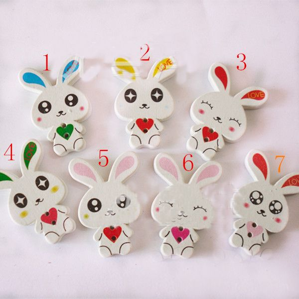 Find More Buttons Information about 34mm Cartoon white little rabbit heart wood buttons for craft sewing mixed crystal handmade diy gift/Clothes/jewelry/headwear,High Quality wood printer,China wooden man kung fu Suppliers, Cheap button down shirt dress from Playful beauty department store on Aliexpress.com
