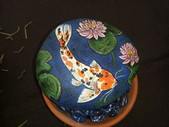 57 best images about painted rocks on pinterest caillou for Koi pond rocks