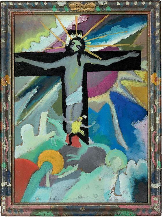 """Wassily Kandinsky - """"Crucified Christ"""", 1911"""