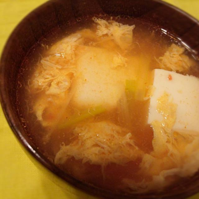 辛くてあったまります - 3件のもぐもぐ - スンドゥブ風スープ by shihocobaby
