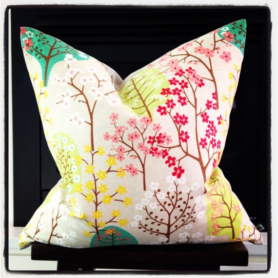 Cushion - Spring has Sprung in Natural by littlebcushions on Etsy, $80.00
