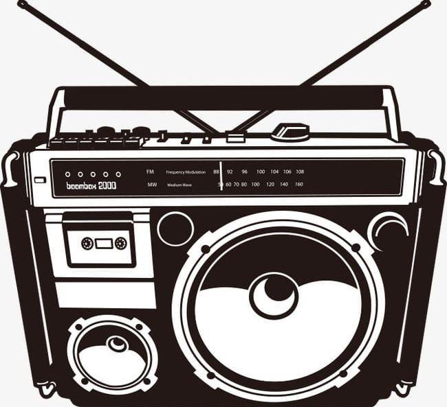 Music Png Curve Drawing Line Line Drawing Music Boombox Boombox Art Radio Drawing