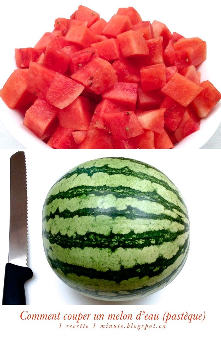 How To Peel And Cut A Watermelon In One Minute (check Out The Video)