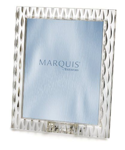 Marquis by Waterford 152021 8-Inch by 10-Inch Frame, Portrait  8-Inch by 10-inch frame  Crystal  Rainfall  Clean vases and decanters by filling them half-full with moderately hot water, a small amount of mild detergent, two tablespoons of white vinegar or ammonia and 1/2 cup uncooked rice. Swirl the rice around for a few minutes to remove residue.
