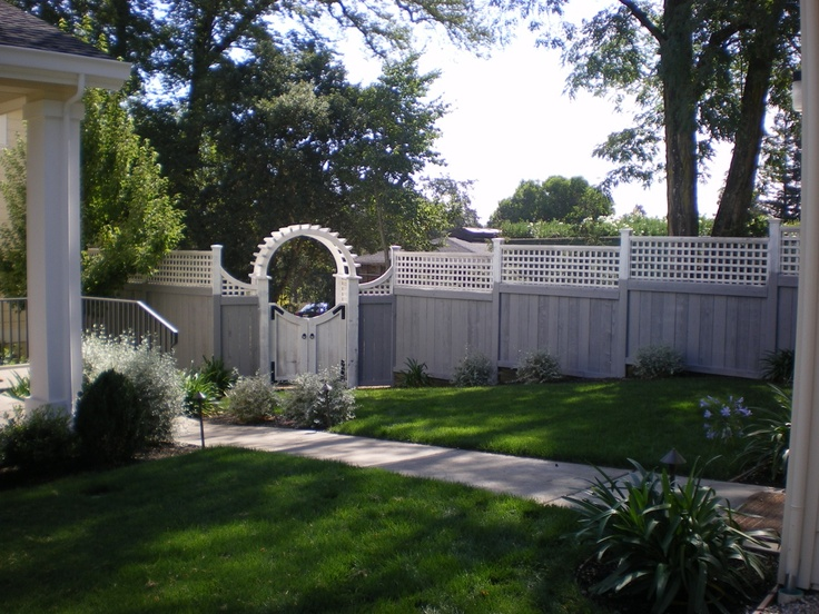 Painted wood fence solid fences pinterest
