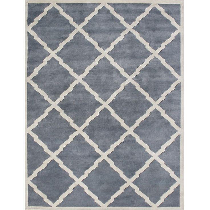 Alliyah Handmade Bluish Grey New Zealand Blend Wool Rug 9 X 12 By Rugs