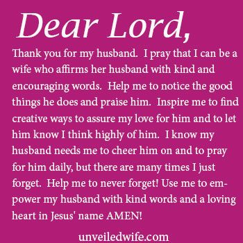 Prayer Of The Day Affirming My Husband Prayer Of The Day For