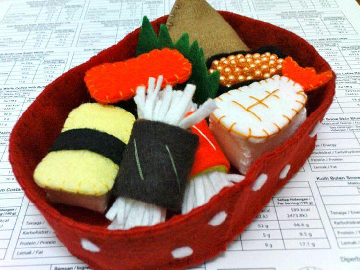 Kids Sushi Lunch Box  from littlecrafttage by DaWanda.com
