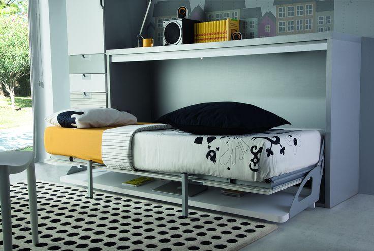 Wallbed with desk (opened) - Cama abatible con escritorio abierta.