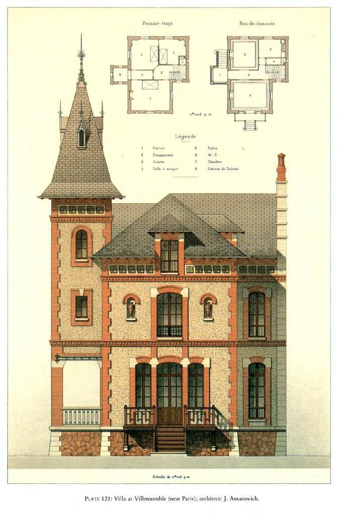 Details of Victorian Architecture. (POST 4) - Villa at Villemomble (near Paris); architect: J. Amanovich