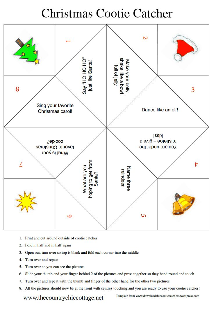 Christmas Cootie Catcher ~ * THE COUNTRY CHIC COTTAGE (DIY, Home Decor, Crafts, Farmhouse)