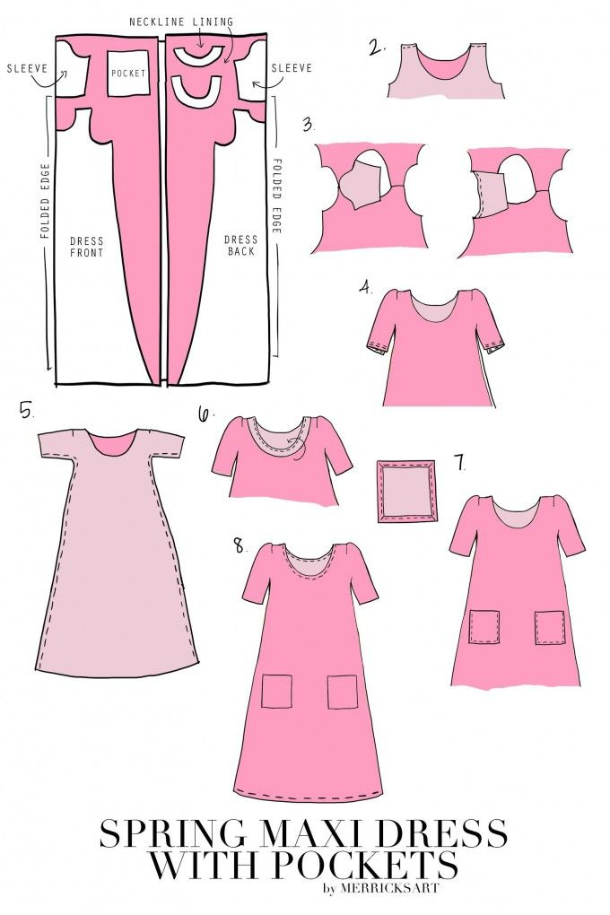 Cute Spring Maxi Dress with Pockets Tutorial from MerricksArt.com