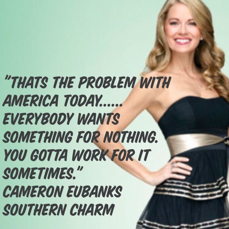 Cameron Eubanks Southern Charm That's the problem with America today