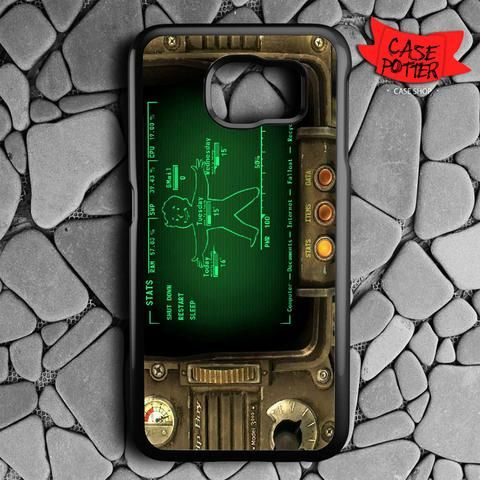 Fallout Pipboy Rainmeter Samsung Galaxy S6 Black Case
