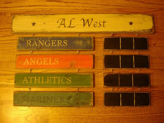 AL West Standings board Houston Astros Texas by MyRusticBoardSigns, $79.00